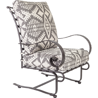 OW Lee Pendleton Classico High-Back Spring Base Lounge Chair