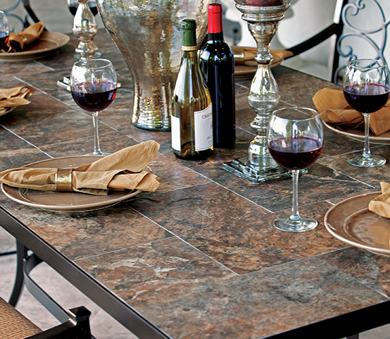 OW Lee Porcelain Table Tops Luxury Outdoor Patio Furniture