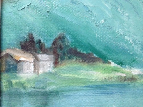NORWAY FJORDS (Detail) by Ruth Gershbein
