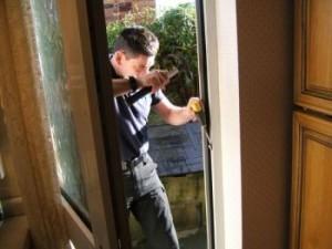 Home security wooden door repair