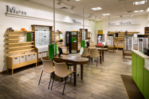 interior of Pearle Vision frame options