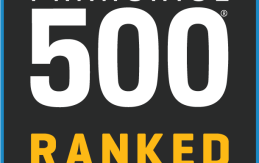 Entrepreneur's badge for Pearle Vision being ranked 75th on the top 500 franchise list
