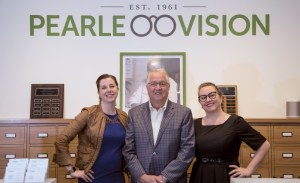 Pearle Vision franchise owner, Mike Arends, with daughters.