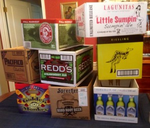 Sept. 16, 2014 It's kitchen day. That means I'm sorting through stuff inside 36 cabinet doors, 17 drawers, and a walk-in pantry. I needed provisions. And by provisions I mean empty boxes. Lots of 'em. Luckily, I knew just where to go for an amusing variety.