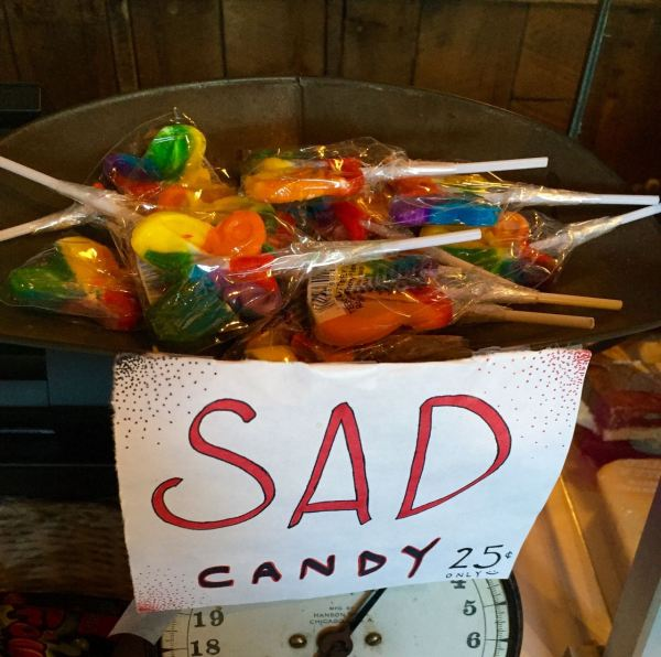 You remember the Island of Misfit Toys? This is the Container of Sad Candy.