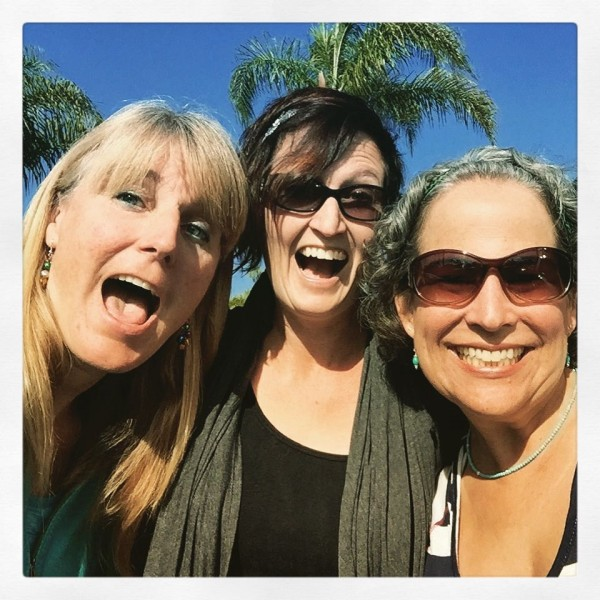 """San Marcos meet-up: two of my Navy wife """"sisters"""", Rachel and Paula, for coffee and catching up.  We've got five sons between us, all of whom attended Larchmont Elementary School in Norfolk, VA."""