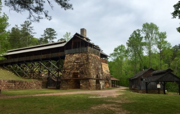 The old furnaces date back to 1830, and they produced iron for Confederate military necessities during the Civil War.