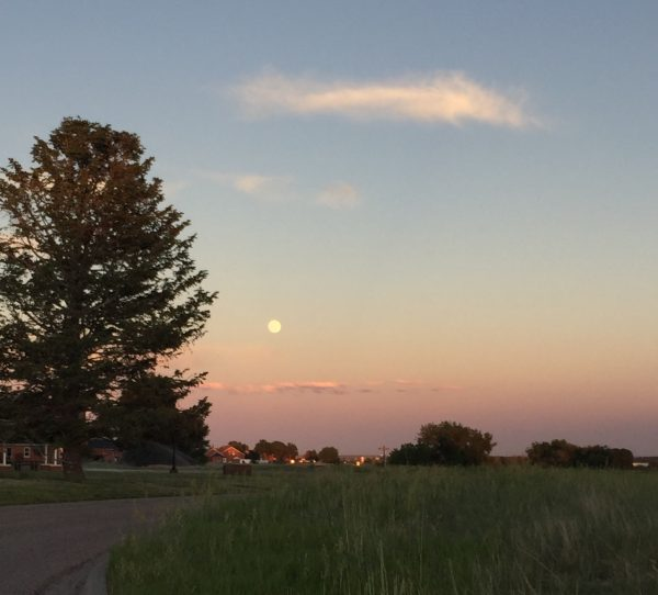 Full moon over Cheyenne