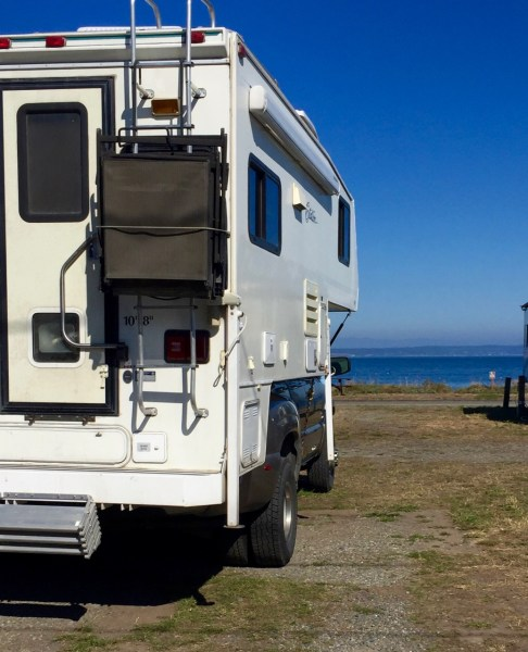 Our site at the Point Hudson Marina & RV Park came with a view of Admiralty Inlet.