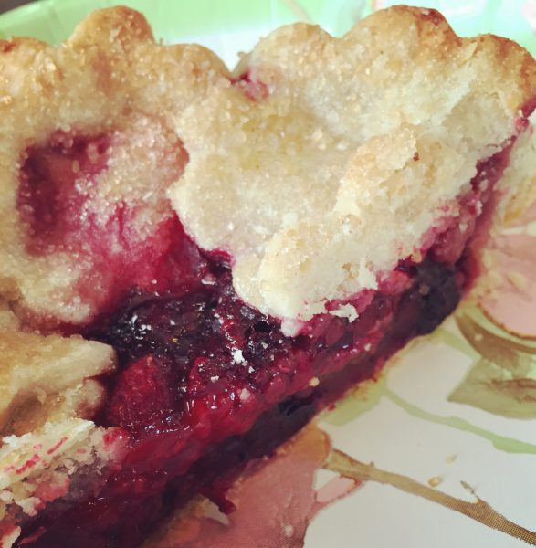 Very Berry Pie: just the right mixture of tart and sweet, with a wonderfully flaky crust. Worth every calorie!