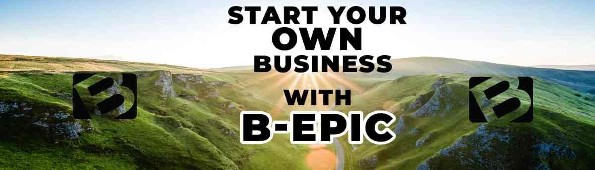 b epic business logo