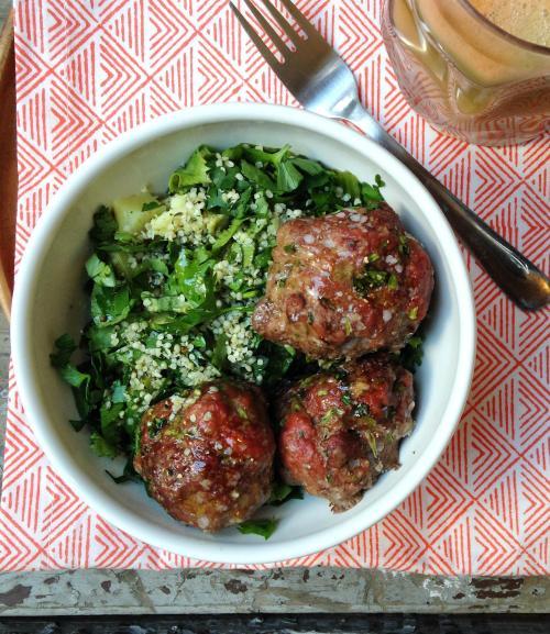 Cilantro & Garlic Meatballs