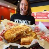 Tom+Chee mac n cheese grilled sandwich