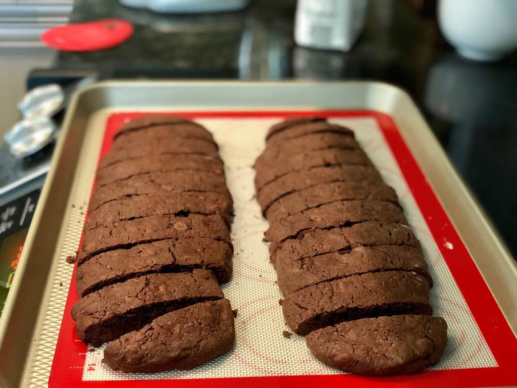 Biscotti sliced