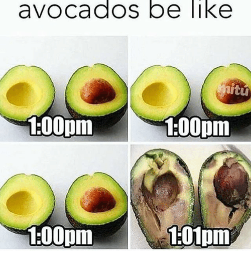 Avocados be like