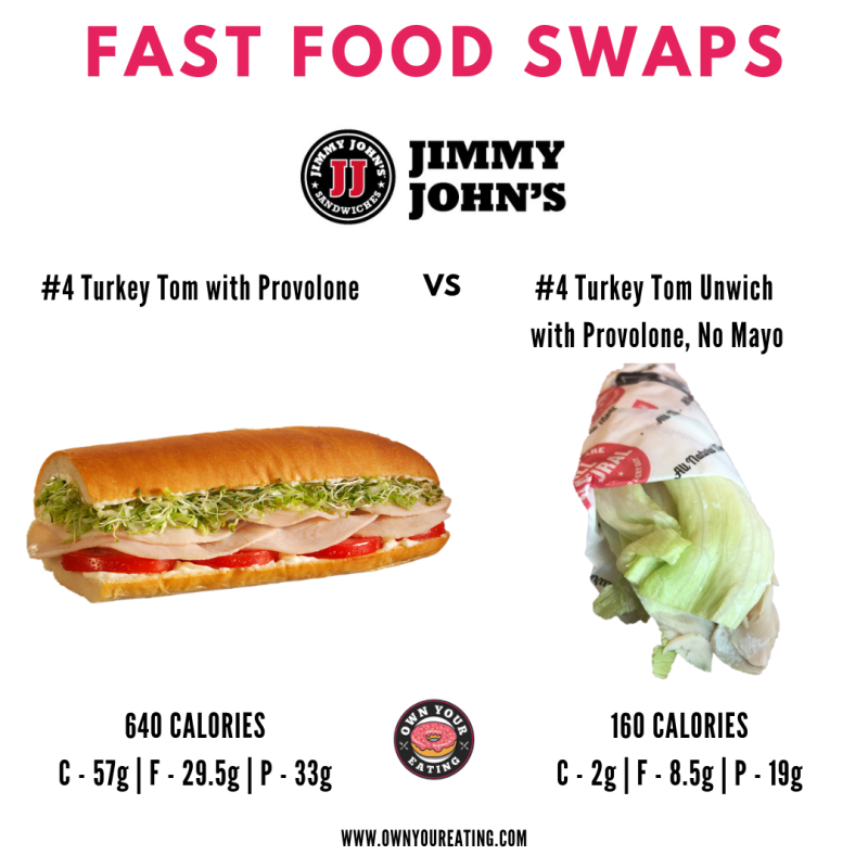 Jimmy John's Low Calorie unwich, high protein