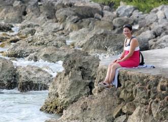 Mexiko, Isla Mujeres Punta Sur: Rastplatz mit Meeresrauschen