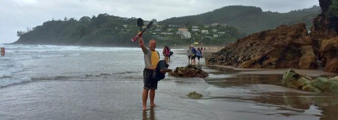 Coromandel, Hot Sand Beach: Bereit für den Tanz auf´m heißen Sand