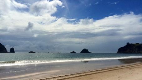 Coromandel, Hahei: Lichtspiele am tollen Strand