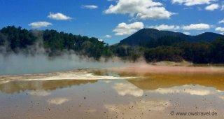 Neuseeland, Wai-O-Tapu: Spiegelungen