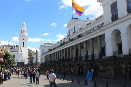 Palacio de Carondelet in Quito direkt am Plaza Grande, der Sitz des Präsidenten von Ecuador