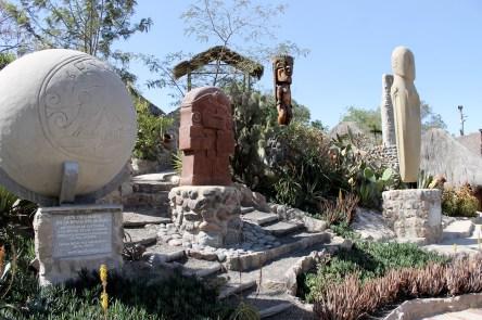 Indio Kultur am Mitad del Mundo im Museo de Sitio Intinan