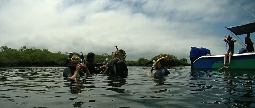 Galápagos, Santa Isabela, Tour Los Tuneles: Start der Schnorcheltour