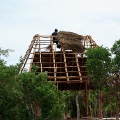 Mexico, Isla Holbox: Traditionelle Maya-Bauweise und Tropensturm-sicher