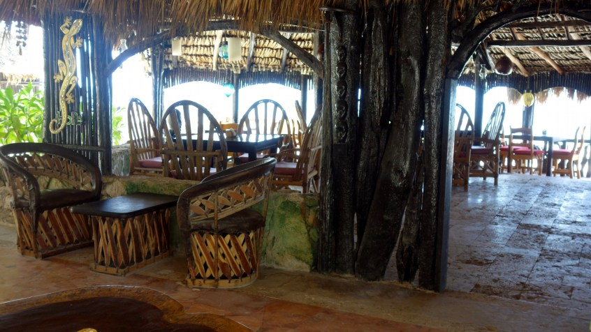 Mexiko, Tulum, Eco-Lodge Diamante K: Restaurant und Bar