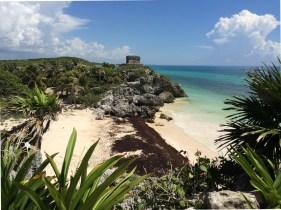 Mexiko, Maya Ruinen von Tulum: Die bekannte Postkartenansicht darf nicht fehlen