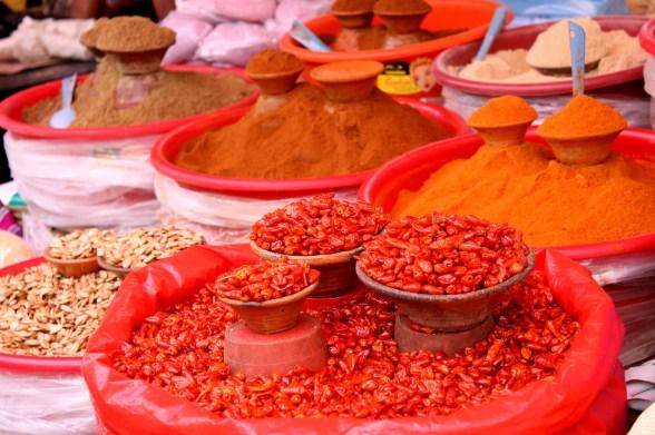 San Cristobal: Gewürze aller Art für die authentische mexikanische Küche auf dem Mercado Central