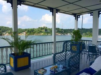 """Guatemala, Flores: """"Unsere"""" Dachterrasse vom Hotel Aquazul"""