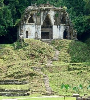 Palenque: Templo de la Cruz Foliada aus der Grupo de las Cruzes