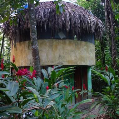 Palenque, El Panchan: Cabañas wie diese sind in der ganzen Anlage verstreut und bieten ein uriges Übernachtungserlebnis