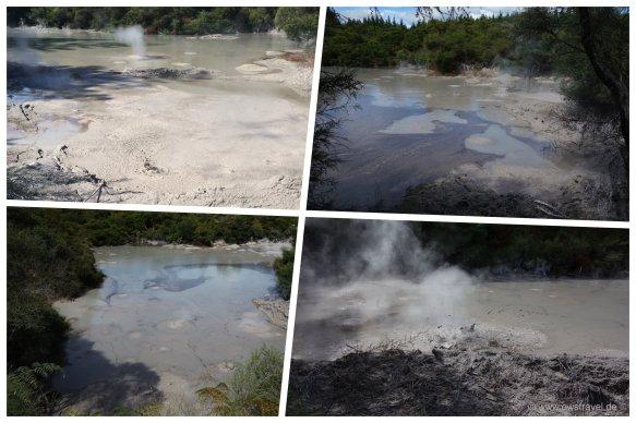 Wai-O-Tapu: Die Schlammtümpel der Mood-Pools