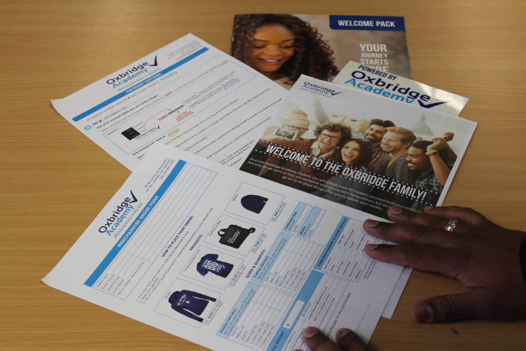 Oxbridge Academy Welcome Pack