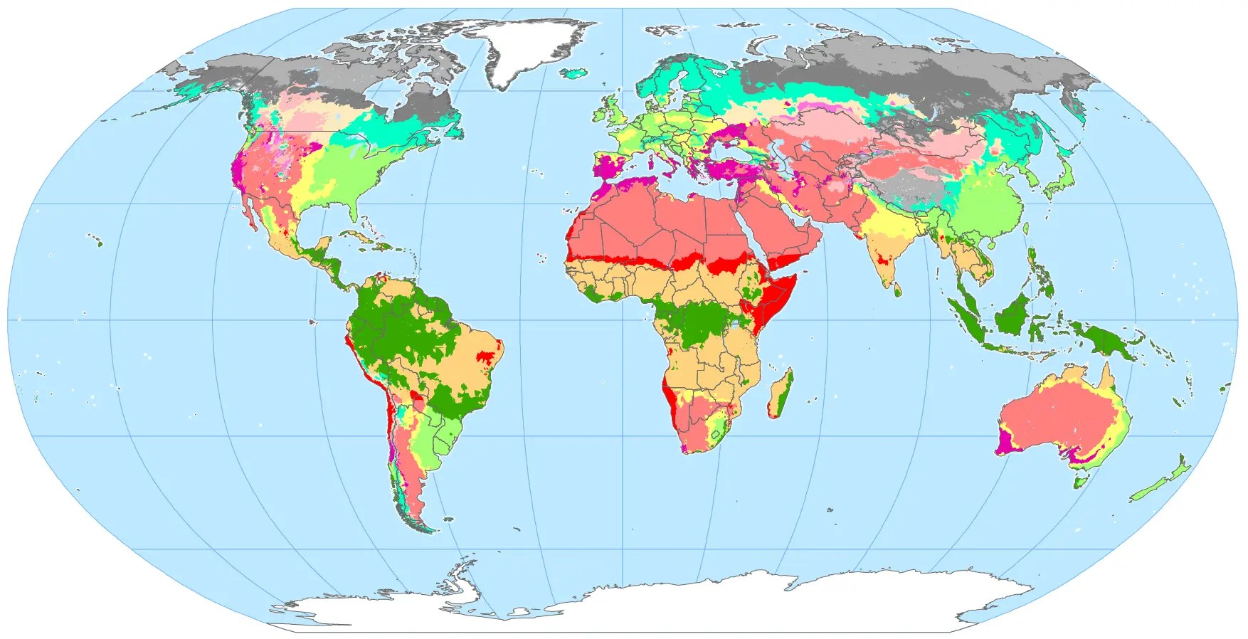 Major Biomes Of The World Map
