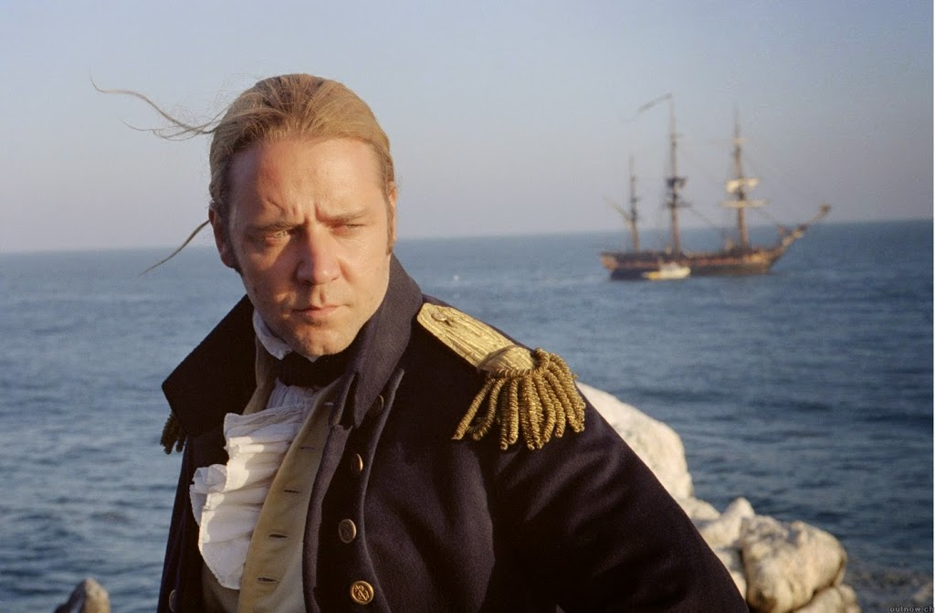 Are you master and commander or ship's cook? Russell Crowe in Master and Commander.