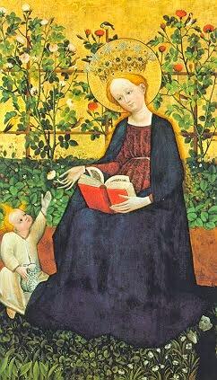 Paradise garden, c 1410. Master from the Upper Rhine