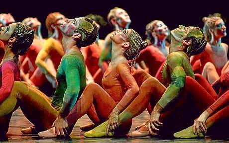 The Royal Ballet's interpretation of Stavinsky's Rite of Spring was kind of orange.