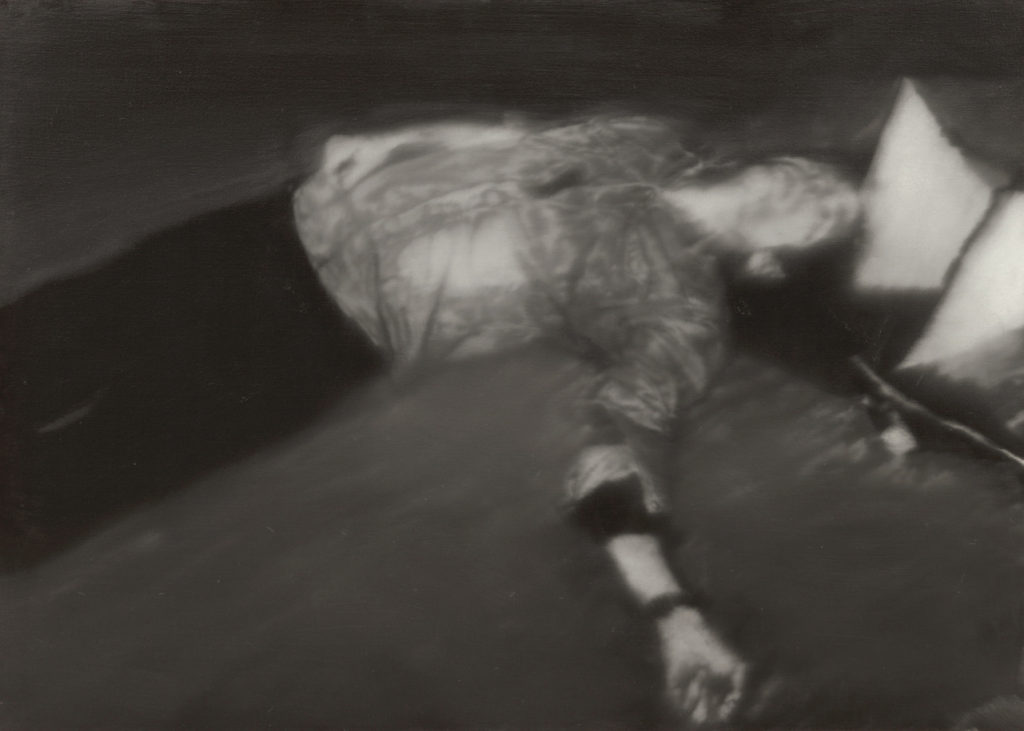 Richter, Gerhard (b. 1932): Man Shot Down (Erschossener 1), from October 18, 1977 (1988). New York, Museum of Modern Art (MoMA) Oil on canvas, 39 1/2 x 55 1/4 (100.5 x 140.5 cm). The Sidney and Harriet Janis Collection, gift of Philip Johnson, and acquired through the Lillie P. Bliss Bequest (all by exchange); Enid A. Haupt Fund; Nina and Gordon Bunshaft Bequest Fund; and gift of Emily Rauh Pulitzer. 169.1995.g*** Permission for usage must be provided in writing from Scala. May have restrictions - please contact Scala for details. ***