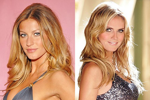 Richer together: The world's two richest supermodels, Gisele Bundchen (Venus in Gemini, Cancer Sun) and Heidi Klum (Venus in Gemini, Gemini Sun)