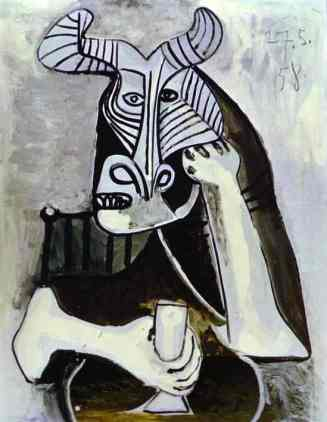King of the Minotaurs - a kind of self-portrait by Picasso, maybe not the world's best boyfriend...