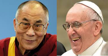 His Holiness the Dalai Lama and His Holiness Pope Francis. Princes of the church - Jupiter in Leo