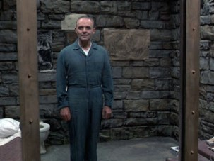 In Silence of the Lambs as Hannibal Lecter. Sun i(the self) n Capricorn (stone) in the 12th (prison).