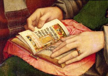 Detail from the Virgin among Virgins, Gerard David