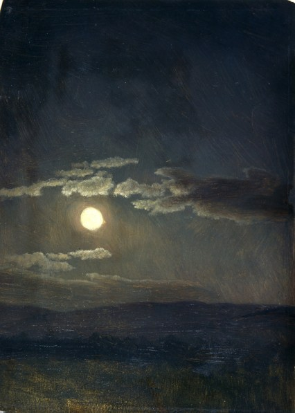 Albert Bierstadt, Cloudy Study, Moonlight