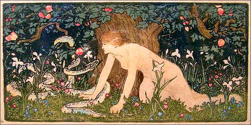 Eve and the Serpent by John Dickson Batten, ca. 1895