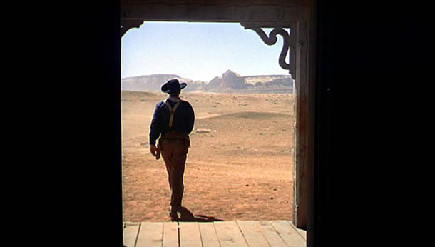 John Wayne in the final shot from The Searchers.