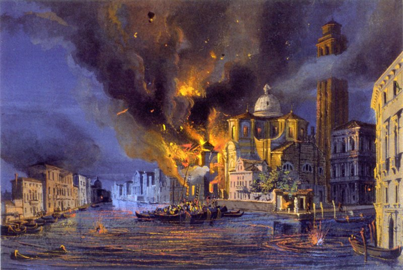 The fall of Venice took place in August 1849, one day after the exact opposition of Neptune and Jupiter.